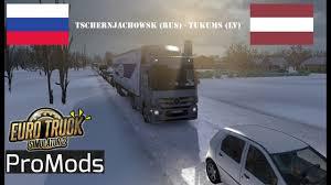 100 Euro Truck Simulator 2 Demo Tschernjachowsk Tukums Timelapse
