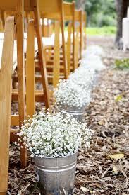 Rustic Wedding Ideas Babys Breath Walkway