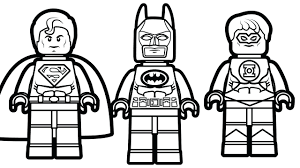 Batman Robin Coloring Pages Free Online Lego Printable Superman Green Lantern Full Size