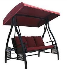 Oversize Garden Swing Seat Cushions Wicker And Steel Free Standing