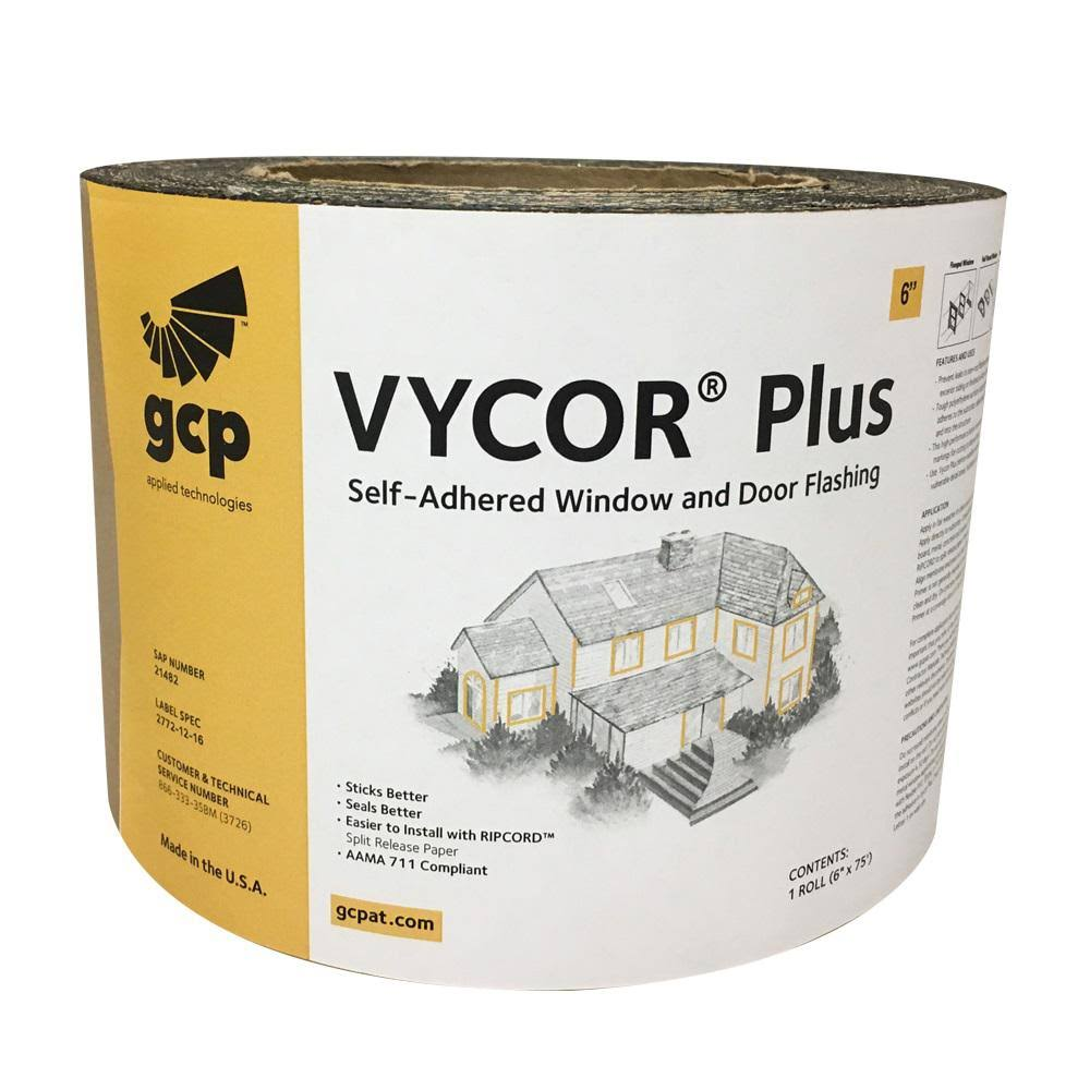 Grace Vycor Plus Fully-Adhered Flashing Roll - 6in x 75ft