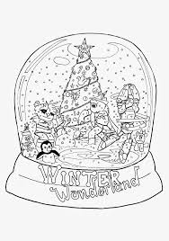 Snow Globe Coloring Pages Printable Snowman S 3078929 Throughout Page