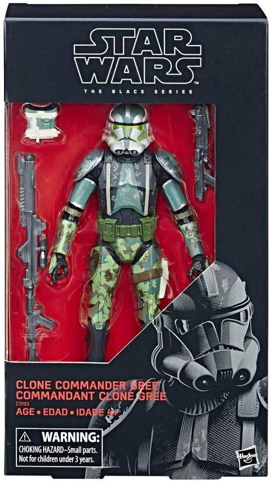 Star Wars Black Series 6 Inch Action Figure - Clone Commander Gree