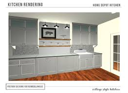 Remodelaholic | Cottage Style Kitchen...Entirely From Home Depot Kitchen Home Depot Cabinet Refacing Reviews Sears How Much Are Cabinets From Creative Install Backsplash Bar Lights Diy Concept Cool Wonderful Kitchen Cabinets At Home Depot Interior Design Fascating Kitchens Chic 389 Best Ideas Inspiration Images On Pinterest White Amazing Knobs And Handles House Living Room