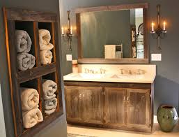 Cool Rustic Floating Shelves Bathroom