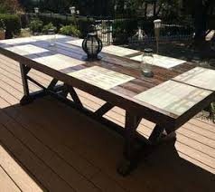 Diy Rustic Outdoor Dining Table Ideas Furniture Large Seats Living