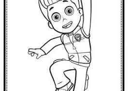 Paw Patrol Coloring Pages Ryder Coloring4free