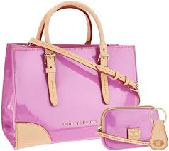 dooney u0026 bourke patent leather satchel with accessories page 1