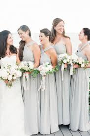 Soft Gray Bridesmaids Dresses Fall Nautical Montauk Yacht Club Wedding