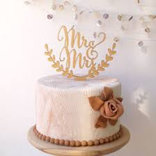 Rustic Wooden Cake Topper Mr Mrs Wedding Accessory Engagement Party Decoration ZA5474