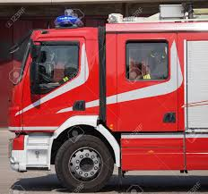 100 Fire Truck Sirens New Red S With Blue Ready For Emergency Stock Photo