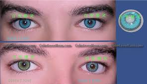 Blue Prescription Halloween Contacts by Aqua Triple Colored Contacts Pair Aqua Triple Colored Contacts