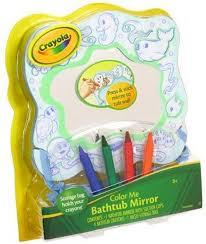amazon com crayola color me bathtub mirror with suction cups 4