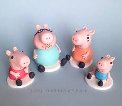 peppa pig cake decorations custom cakes by julie peppa pig inspired cake toppers