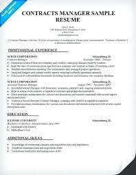 Contract Manager Resume Good Contracts Sample Law Samples Across All Within