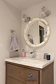 Small Bathroom Update Ideas. Wood Vanity, Marble Countertop. Kylie M ... Color Schemes For Small Bathrooms Without Windows 1000 Images About Bathroom Paint Idea Colors For Your Home Nice Best Photo Of Wall Half Ideas Blue Thibautgery 44 Most Brilliant To With To Add Style Small Bathroom Herringbone Marble Tile Eaging Garage Ceiling Countertop Tim W Blog Pictures Intended Diy Pating Youtube Tiny Cool Latest Colours 2016 Restroom