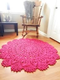 Giant Crochet Doily Rug