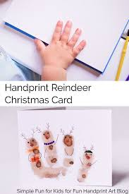 Simple Cute Kid Made Reindeer Christmas Card Craft For Kids Toddler On Up Includes A Little Printable Poem You Can Put In The