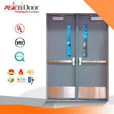 100 Exit C Hot Item Asico Emergency Steel Door With ASTMNfpaUL10 C