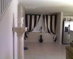 Black And White Striped Curtains by Black And White Curtains