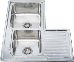 Double Kitchen Sinks With Drainboards by List Manufacturers Of Corner Kitchen Sinks Stainless Steel Buy