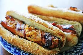 Halloween Hotdog Fingers Recipe by Grilled Bacon Wrapped Stuffed Dogs Recipe Simplyrecipes Com
