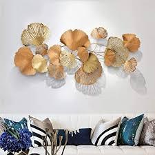 wlher wanddekoration ginkgo vertikale wandbehänge wandhänger dekoration hintergrund wand wohnzimmer dekoration modern eiserne kunst gold ginkgo