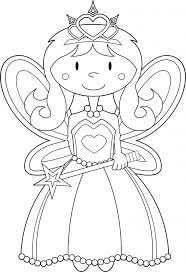 Coloring Book Page For Princess