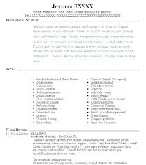 Cleaning Resume Examples Services Related Post House Cleaner Hotel Sample