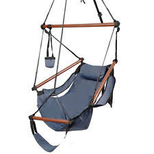 Hanging Chair Indoor Ebay by Blue Hanging Hammock Chair Home Patio Yard Camping Zero Gravity