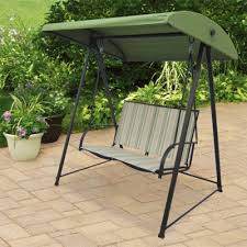 Mainstays Patio Set Red by Outdoor 2 Person Canopy Swing Backyard Seat Chair Metal Patio