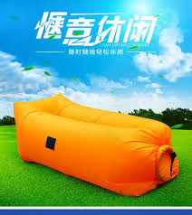 Square Air Self Inflated Bean Bag ChairAmerican Style Regional