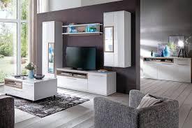 expendio wohnzimmer set parla 31 spar set 6 tlg weiß hochglanz vormontiert mit beleuchtung kaufen otto