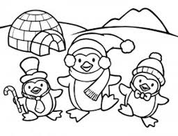 Penguin Coloring Pages Christmas Preschool 6