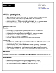 Sample Entry Level Accounting Resume No Experience For Study Accountant Cv Format Experienced