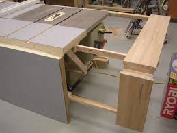 table saw bench plans folding sliding table saw extension wing