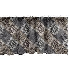 gardine vorhang volant für küche schlafzimmer dekor mit stangentasche abakuhaus abstrakt ethnische stammesstrukturen kaufen otto