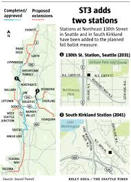 Kirkland North Seattle light rail stops could pick up voters for