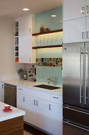 san francisco blue glass tile kitchen contemporary with