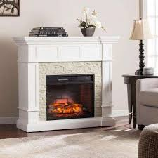 W Corner Convertible Infrared Electric Fireplace In White