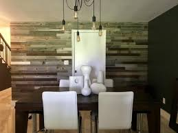 Plank Mill Reclaimed Barn Wood Dining Room Accent Wall