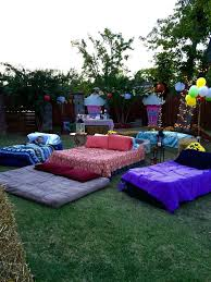 Air Mattresses For Movie Night Outside 10 Birthday13th Birthday Party Ideas TeensBirthday Sleepover IdeasSummer ThemesBackyard