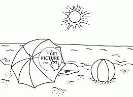 Download Coloring Pages Beach Page Free Printable For