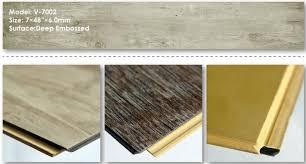 Plastic Floor Covering Wood Pattern WPC Vinyl Plank Flooring