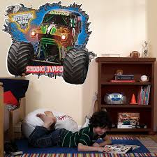 Amazon.com: Monster Jam Room Decor - Grave Digger 3D Giant Wall ... Monster Truck Vinyl Wall Decal Car Son Room Decor Garage Art Grave Digger Fathead Jr Shop For Sticker Launch Os_mb592 Products Tagged Cstruction Decal Stephen Edward Graphics Blue Thunder Trucks And Decals Stickers Jam El Toro Giant Elegant Familytreeshistorycom Blaze The Machines Scene Setters Decorating Kit Decals Home Fniture Diy Mohawk Warrior Warrior Monster Trucks Jam Wall Stickers Transportation 15 Fire