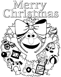 Download This File Elmo Christmas Coloring Page