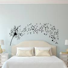 Wall Mural Decals Flowers by Dandelion Music Note Flower Wall Art Sticker Decal Home Diy