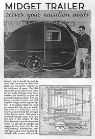 1940 Popular Mechanix Midget Trailer Article Plans
