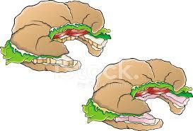 Croissant Sandwich Stock Vector