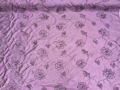 purple hand spray graffiti print fabric kids bedroom punk funky